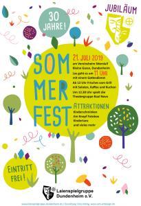 Plakat Jubliäumsfest