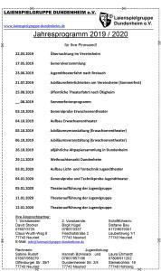 Jahresprogramm 19-20